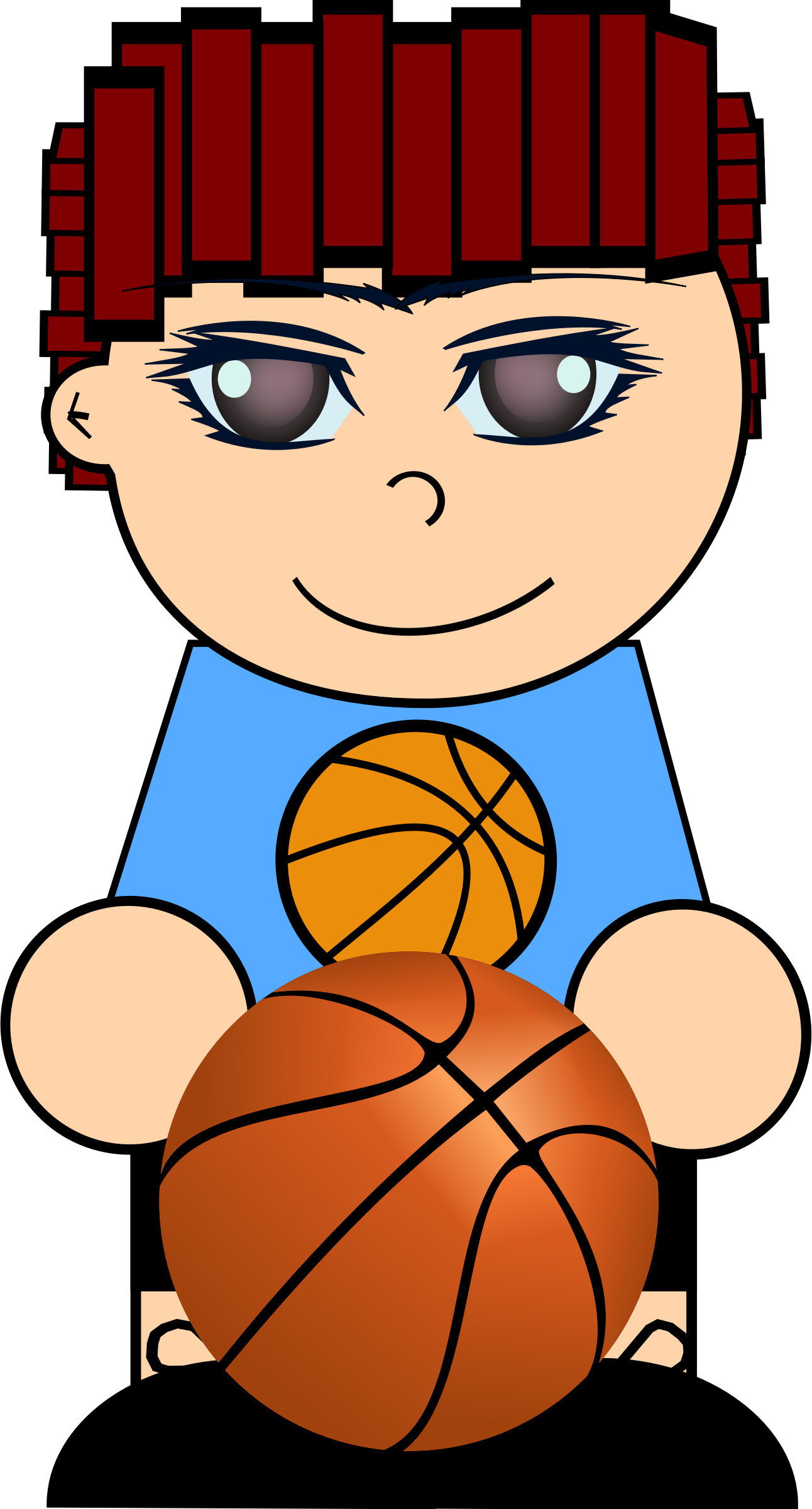 Boy basketball player clipart svg black and white stock Boy with basketball Icons PNG - Free PNG and Icons Downloads svg black and white stock