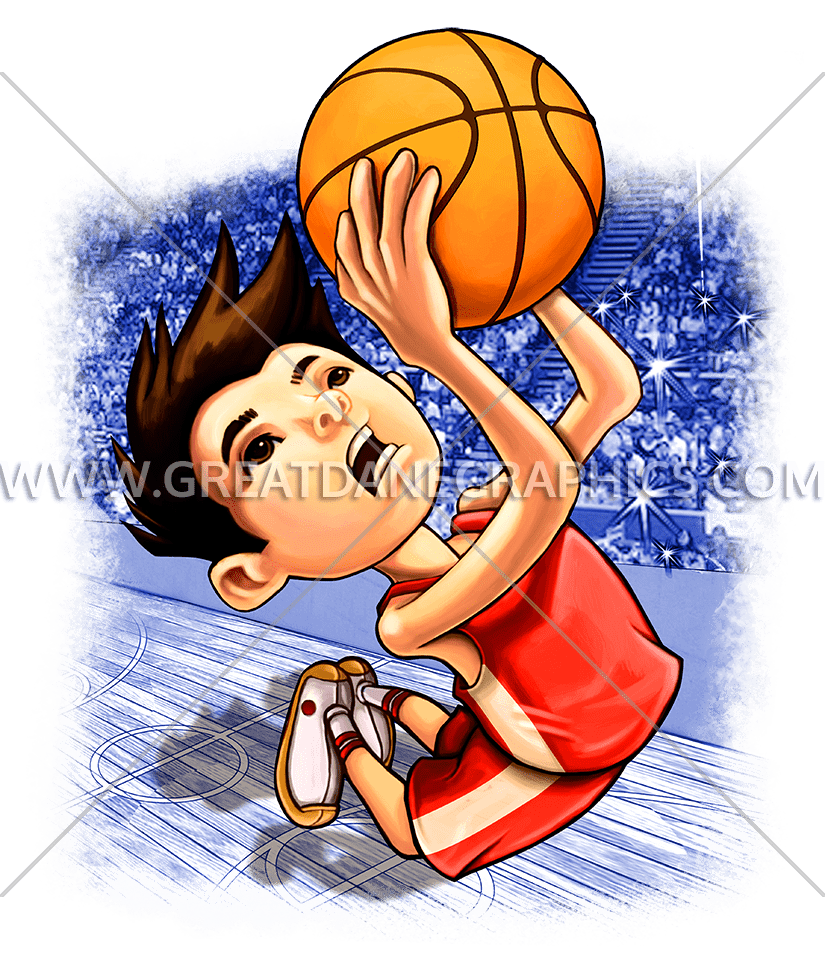 Cartoon boy with basketball clipart svg freeuse stock Kid Basketball Dunk | Production Ready Artwork for T-Shirt Printing svg freeuse stock