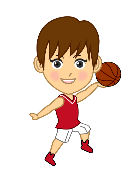 Basketball boy clipart graphic library library Free Women's basketball player character to shoot image|Free ... graphic library library