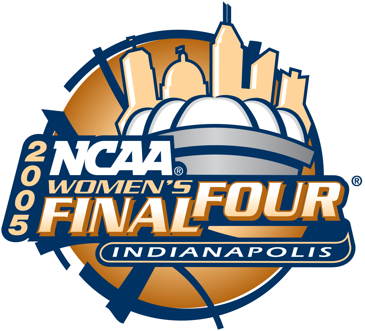 Basketball champions logo clipart vector freeuse download 2005 NCAA Division I Women's Basketball Tournament - Wikipedia vector freeuse download