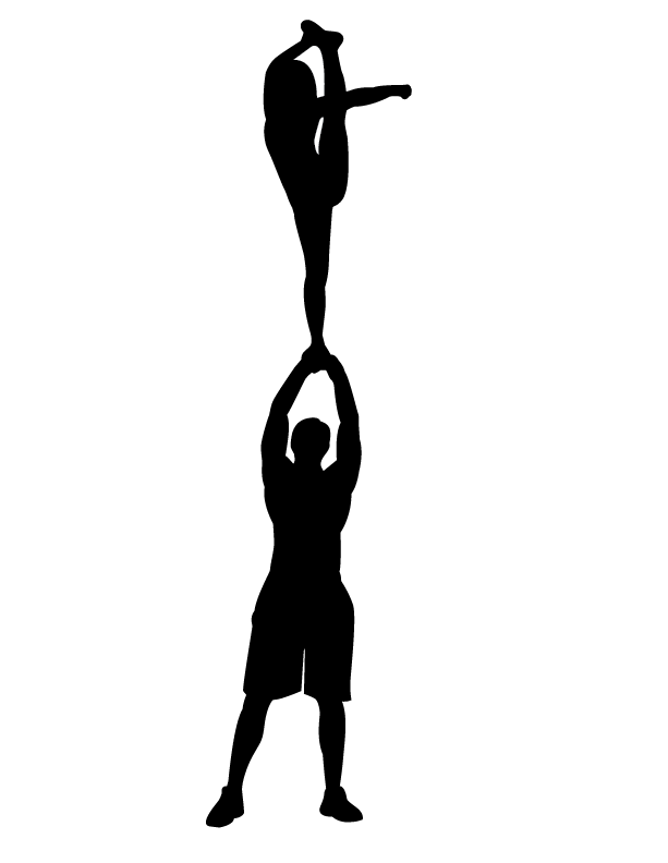 Free football player and cheerleader clipart black and white svg black and white stock Cheerleader Clipart Silhouette at GetDrawings.com | Free for ... svg black and white stock