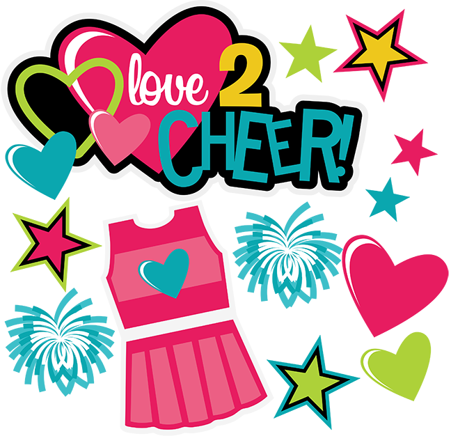 Football svg mom clipart jpg black and white Love 2 Cheer SVG scrapbook collection cheerleading svg files ... jpg black and white