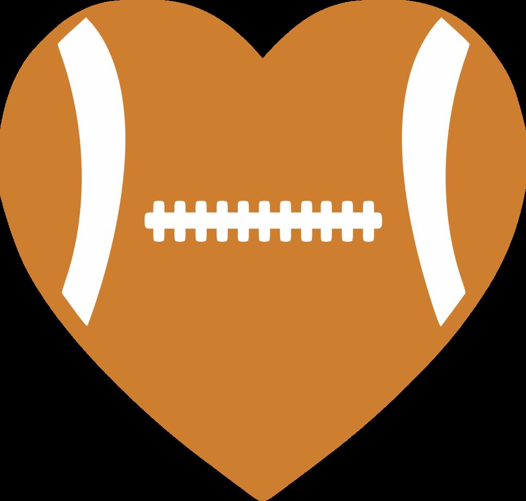 Football baseball clipart heart jpg black and white download Football Heart – Albb Blanks jpg black and white download