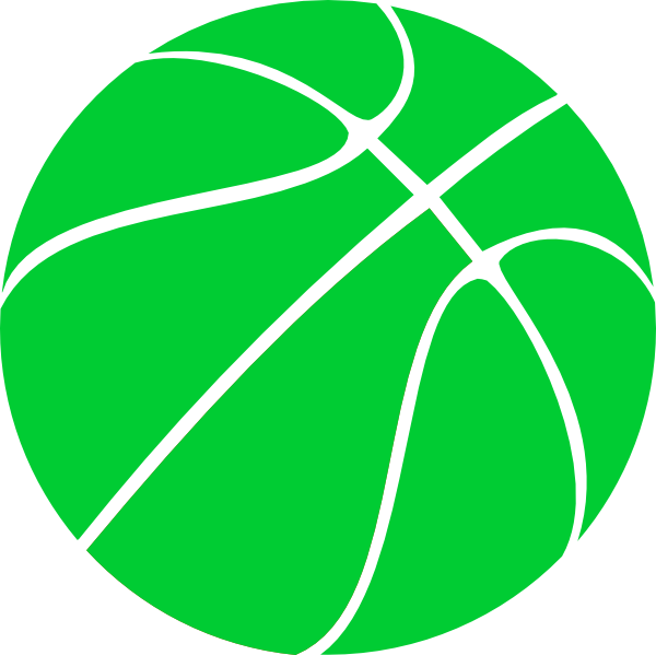 Images basketball clipart picture stock Green Basketball Clip Art at Clker.com - vector clip art online ... picture stock