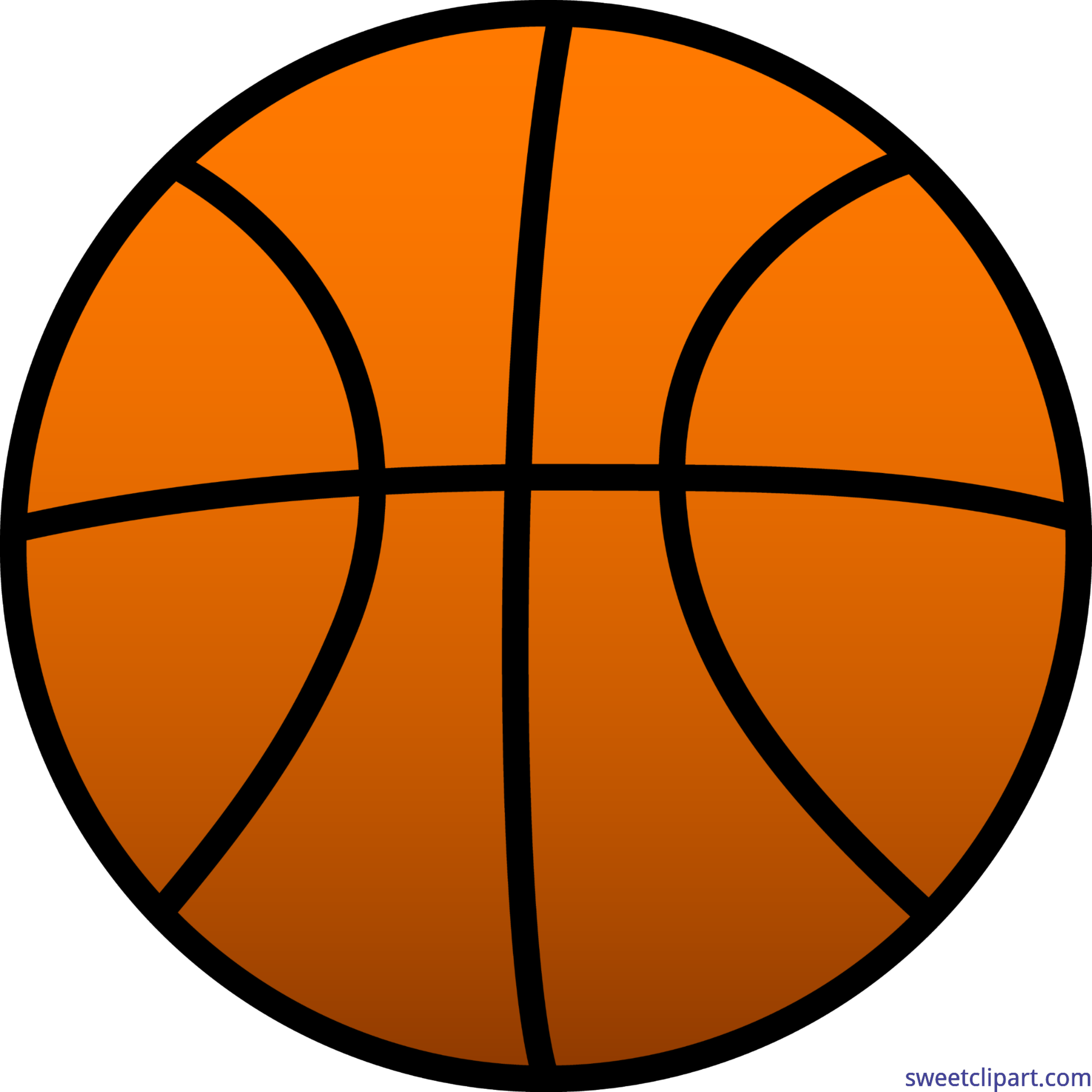 Basketball clipart on pocket vector black and white Basketball 1 Clip Art - Sweet Clip Art vector black and white