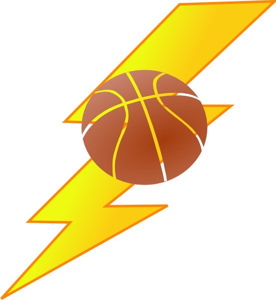 Thunder basketball clipart