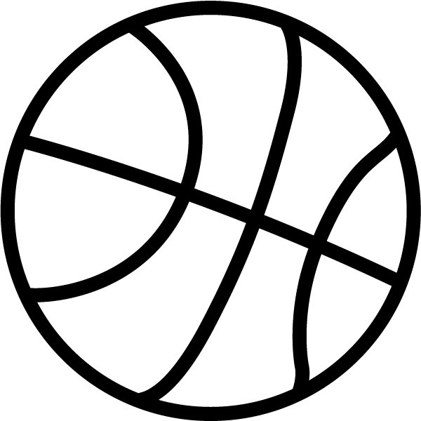 Basketball clipart black and whit image transparent library Free Black And White Basketball Png & Free Black And White ... image transparent library