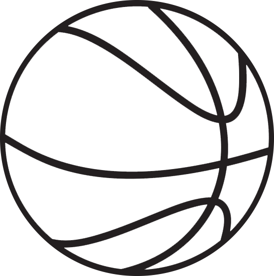 Basketball clipart black and whit banner library 40+ Black And White Basketball Clipart | ClipartLook banner library