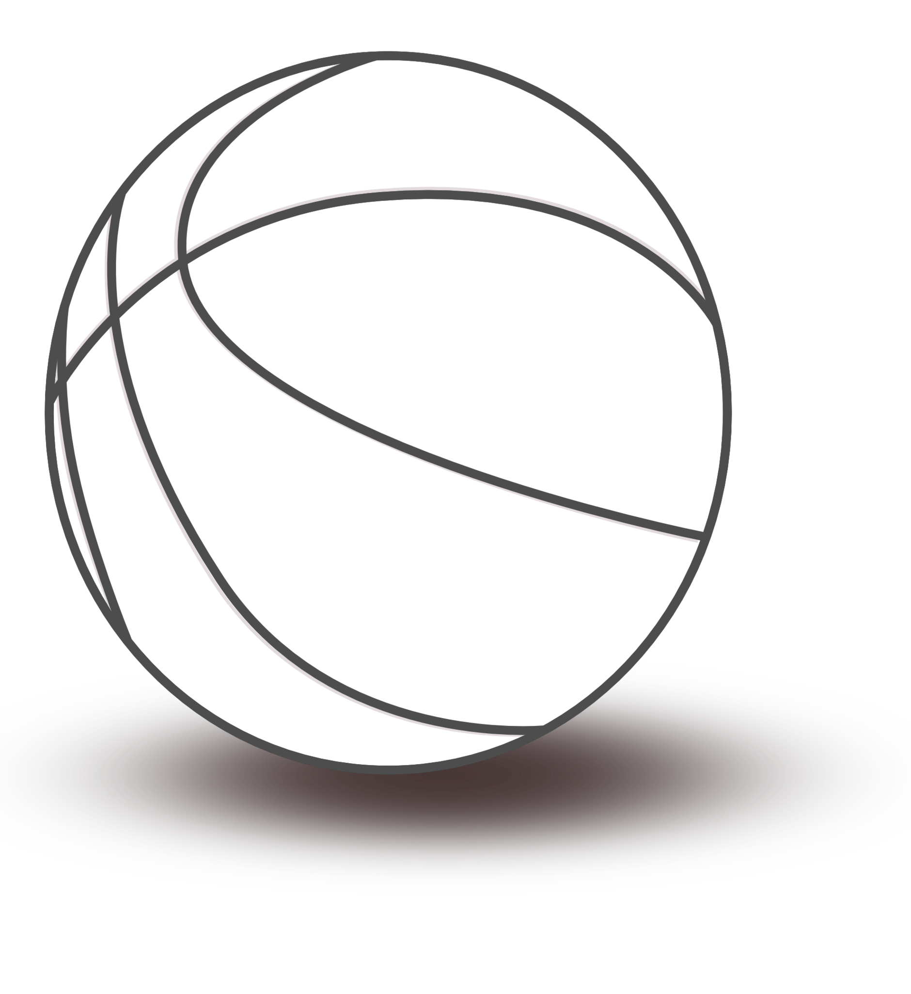 Outline of basketball clipart freeuse library 28+ Collection of Basketball Clipart Black And White Png | High ... freeuse library