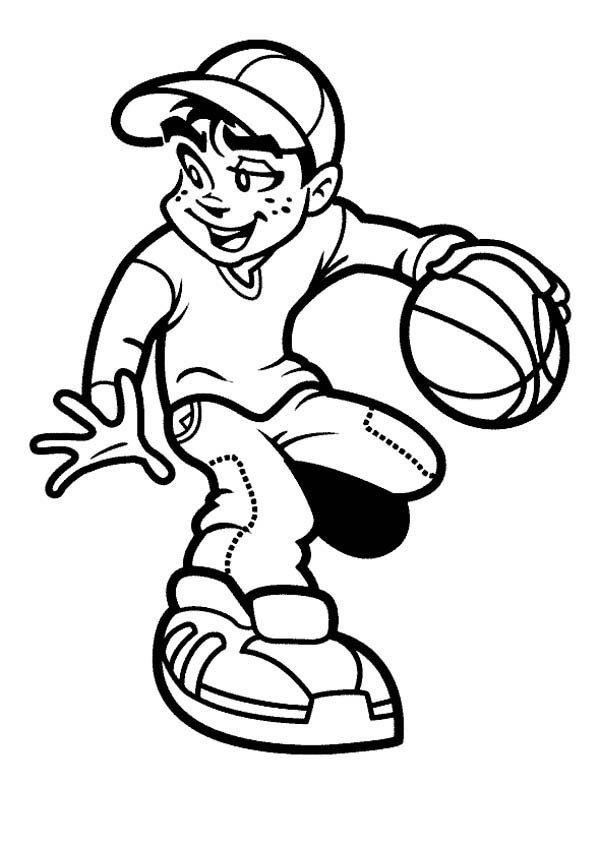 Basketball clipart black boy graphic royalty free Boy playing basketball clipart black and white 1 » Clipart Portal graphic royalty free