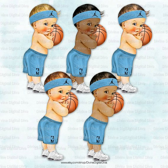 Basketball clipart black boy stock Little Prince Basketball Player Blue Black Jersey Shorts Sweatband ... stock