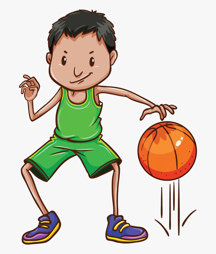 Basketball clipart black boy vector black and white stock A Boy Playing Basketball Clipart - Bounce A Ball Clipart #1202980 ... vector black and white stock