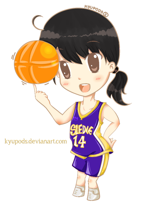 Girl basketball players clipart banner freeuse Basketball Player from Sledie Fanart by kyupods on DeviantArt banner freeuse