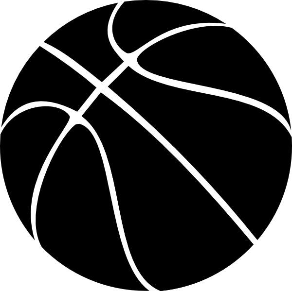 Basketball clipart clipart. Black and white free