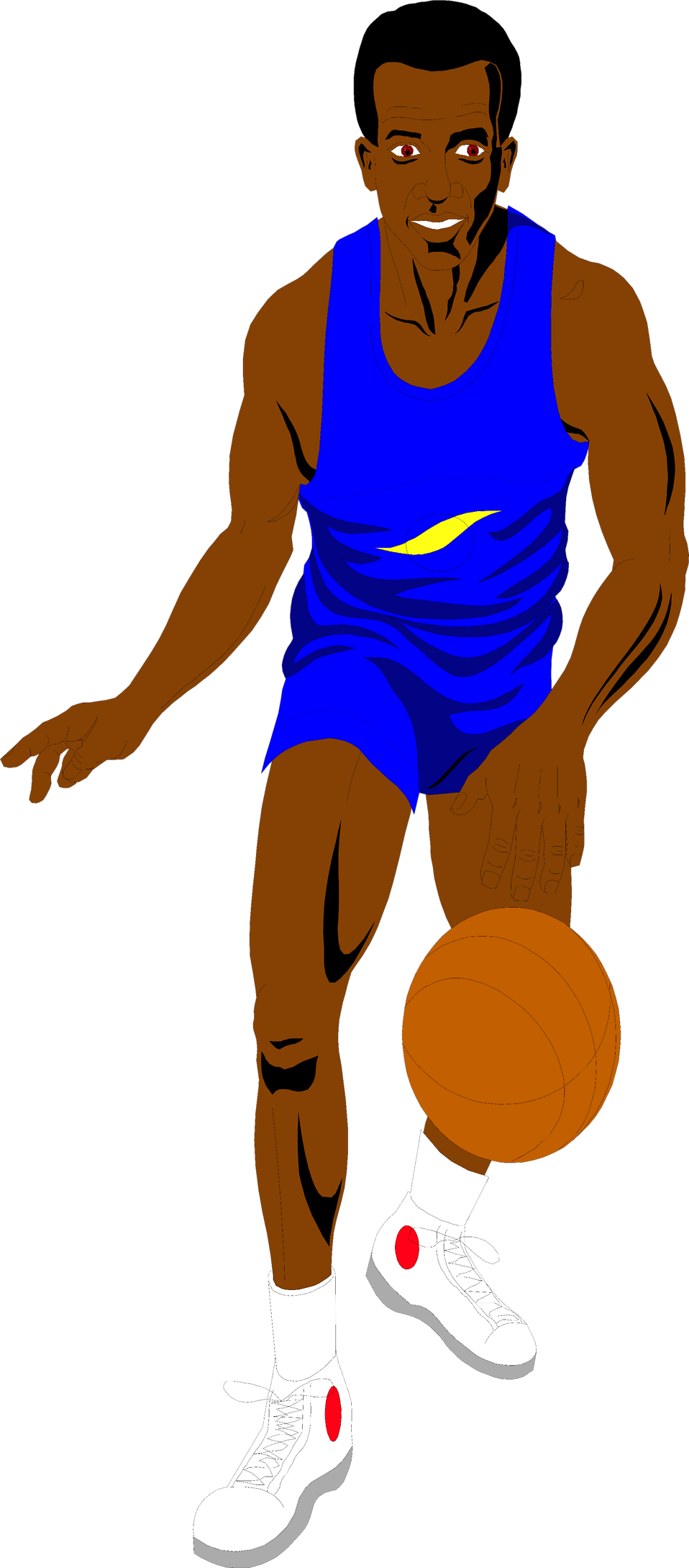 Passing a basketball clipart svg black and white library Basketball | Free Stock Photo | Illustration of an African American ... svg black and white library