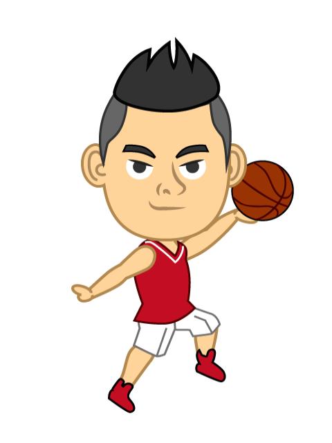 Basketball clipart dribbling clip art freeuse stock Free Men's Basketball Player Character image|Free Cartoon & Clipart ... clip art freeuse stock