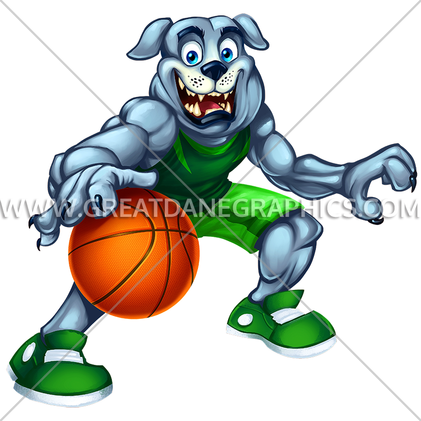 Basketball clipart dribbling picture free stock Bulldog Dribble | Production Ready Artwork for T-Shirt Printing picture free stock