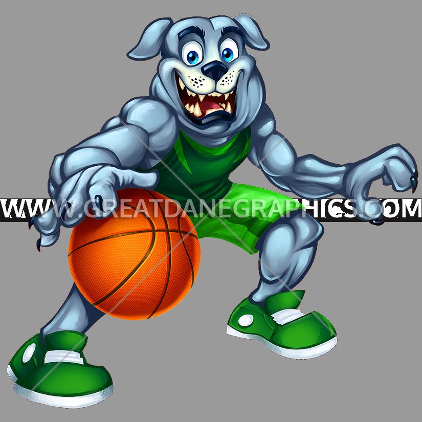 Dribble basketball clipart clip download Bulldog Dribble | Production Ready Artwork for T-Shirt Printing clip download