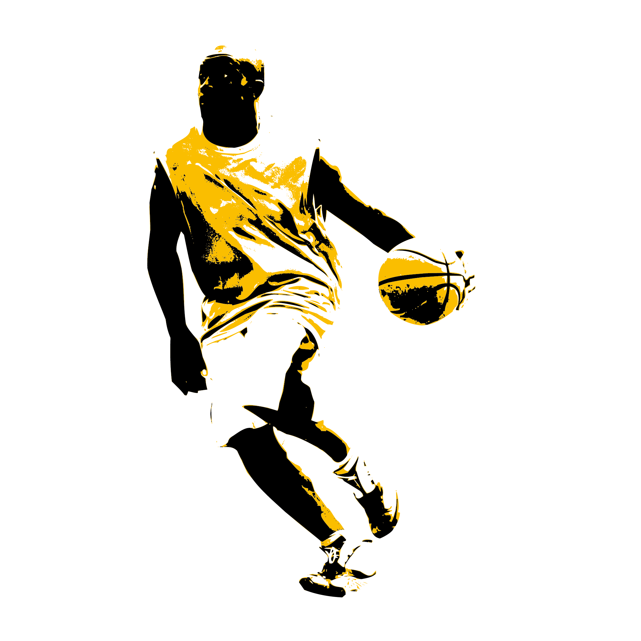 Basketball player dunking clipart banner black and white Basketball Slam dunk Sport Clip art - Man dribbling 2126*2126 ... banner black and white