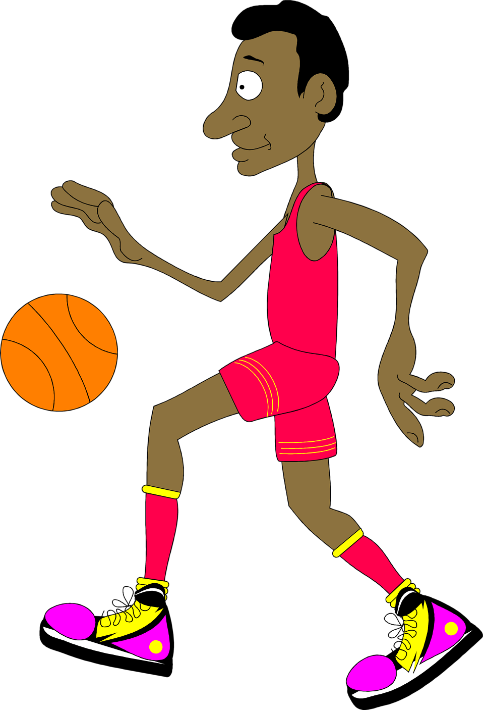 Basketball players clipart free clipart free library Basketball | Free Stock Photo | Illustration of a basketball player ... clipart free library