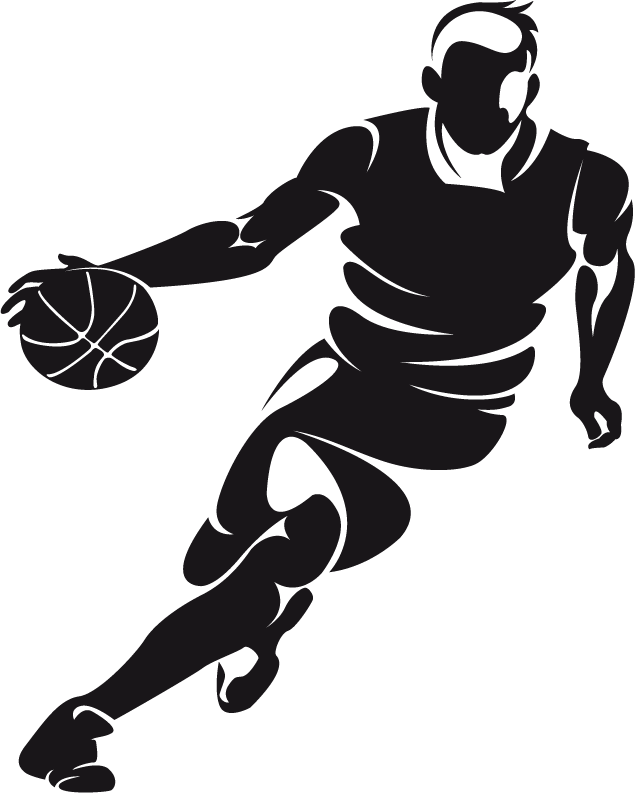 Basketball player black and white clipart png transparent download Basketball Dribbling Clip art - Basketball Players Creative People ... png transparent download