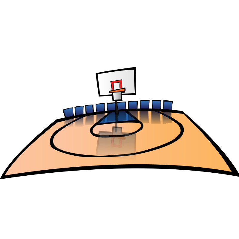 Basketball clipart free graphic black and white Free Basketball Court Clipart, Download Free Clip Art, Free Clip Art ... graphic black and white