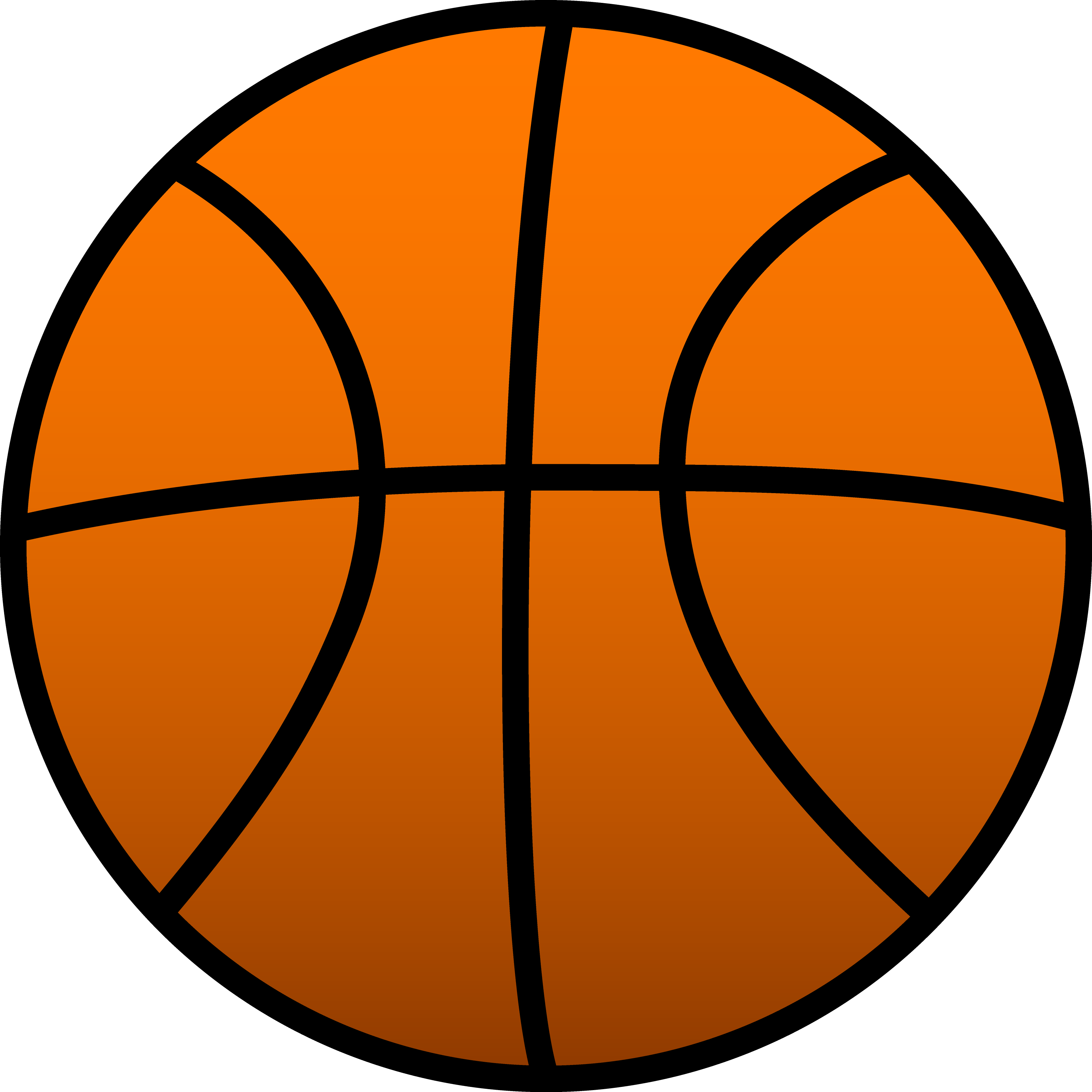 Basketball clipart public domain clip transparent library Orange Basketball Clipart free image clip transparent library