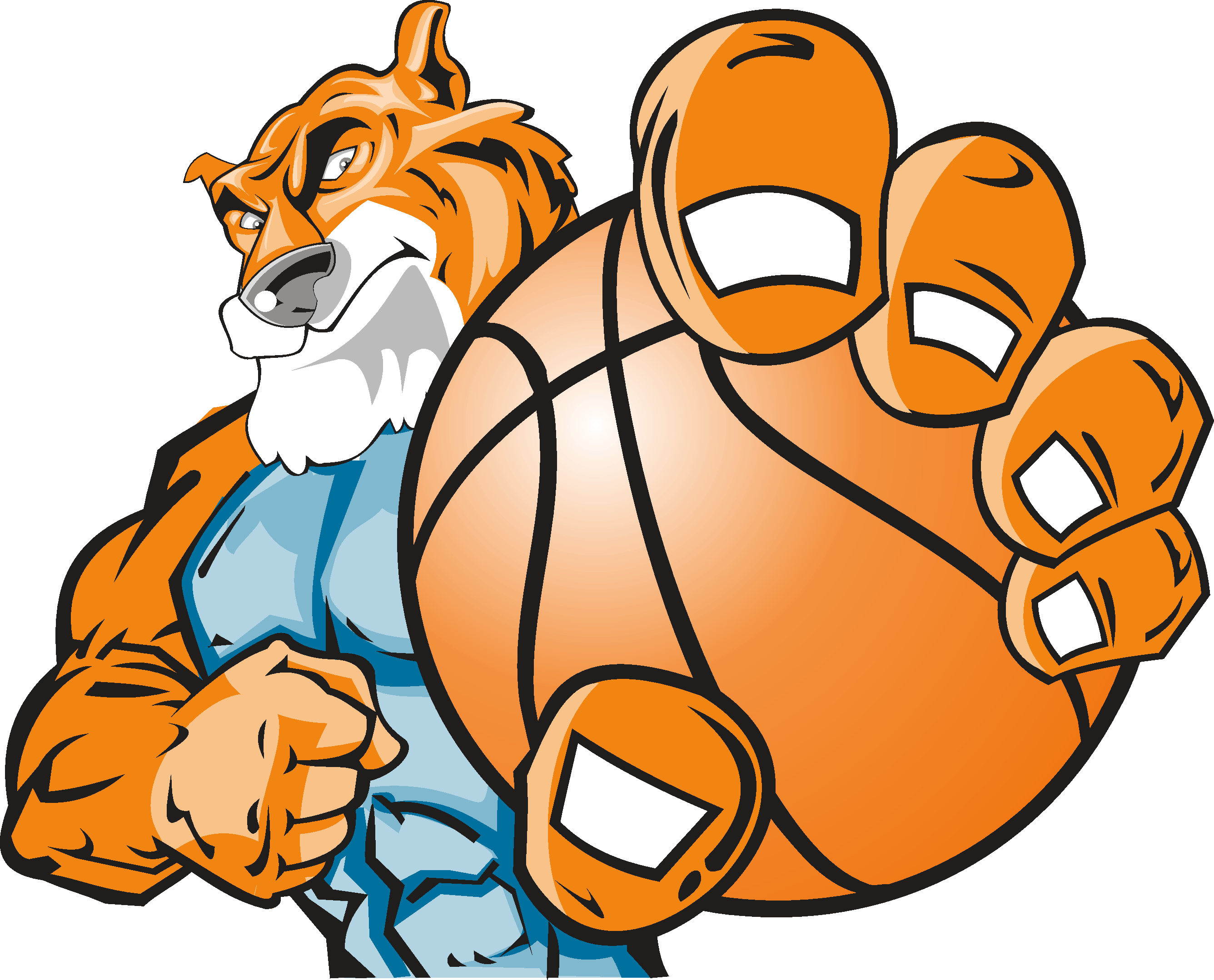 Tiger dunking basketball clipart png transparent download March Madness Clipart - clipart png transparent download