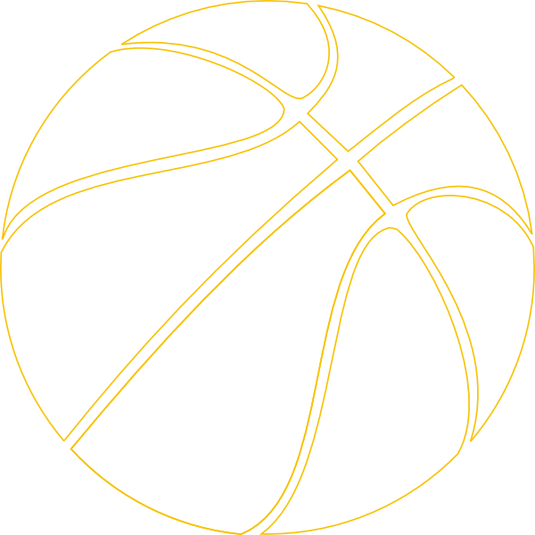 Gold basketball clipart
