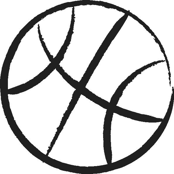 Girls basketball player clipart clip transparent download Basketball Outline Clip Art at Clker.com - vector clip art online ... clip transparent download
