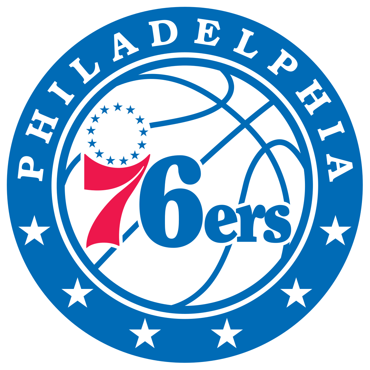 Piston basketball clipart vector black and white Philadelphia 76ers Colors - Team Color Codes vector black and white