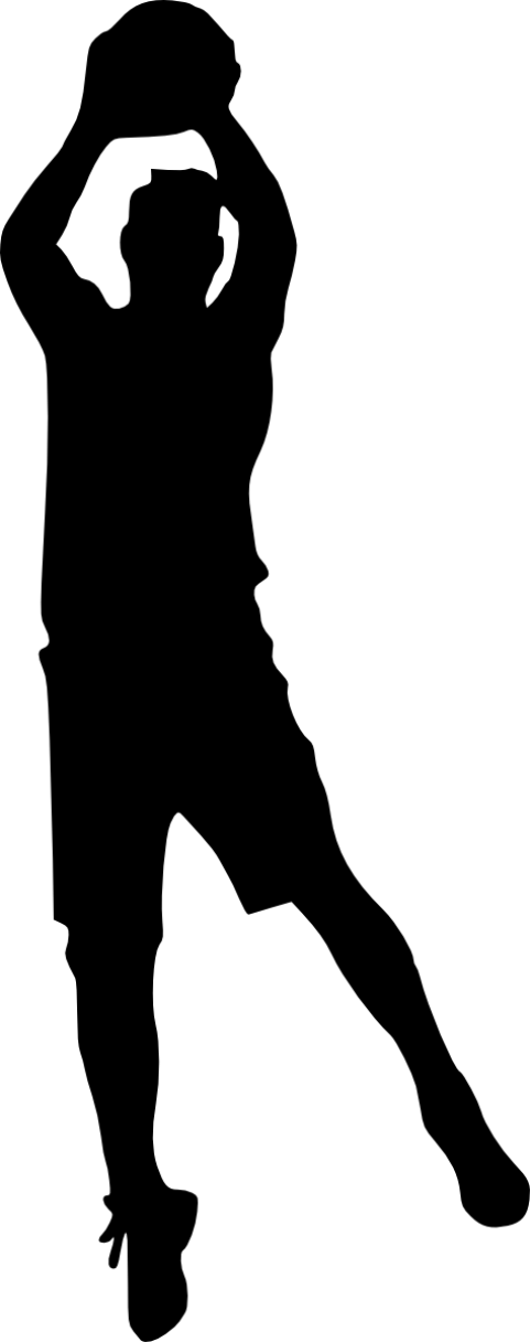Basketball player black and white clipart svg black and white basketball player silhouette png - Free PNG Images | TOPpng svg black and white