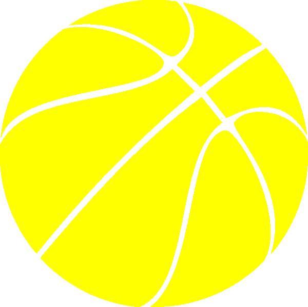 Yellow basketball clipart