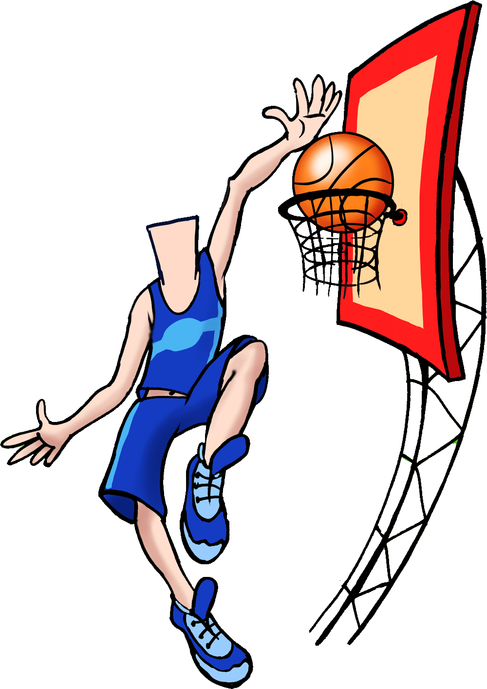 Basketball clipart watermark vector black and white Order a caricature from photo online by Wish2Be #1 artists vector black and white