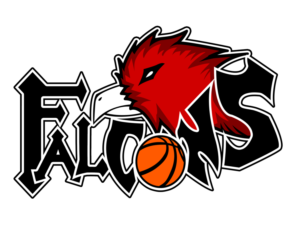 Basketball clipart watermark black and white stock Falcon_logo by MidzMedia on DeviantArt black and white stock