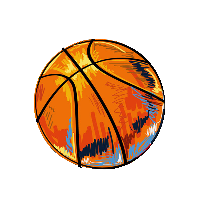 Handdrawn basketball clipart jpg library download Graffiti Basketball Illustration - Hand-painted basketball 2480*2480 ... jpg library download