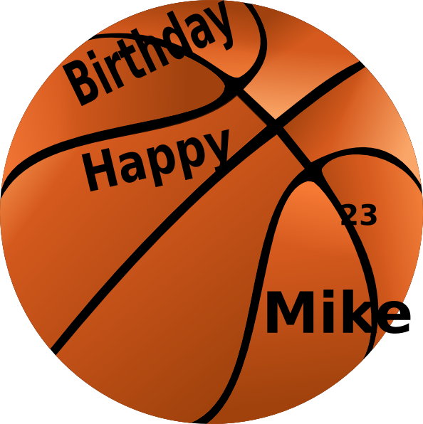 Basketball clipart with year clip royalty free stock Happy Birthday Basketball Clip Art at Clker.com - vector clip art ... clip royalty free stock