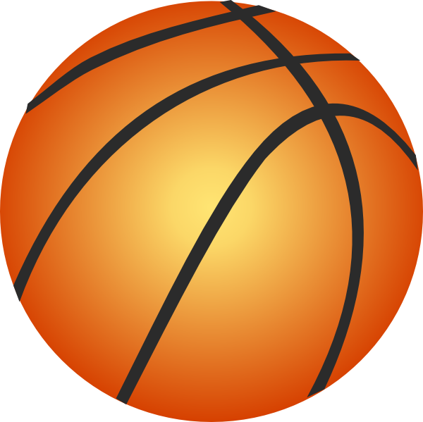 Small basketball clipart png black and white Basketball Clip Art at Clker.com - vector clip art online, royalty ... png black and white