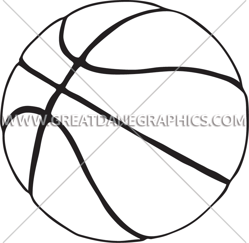 Basketball court clipart black and white picture library library Basketball on Court | Production Ready Artwork for T-Shirt Printing picture library library