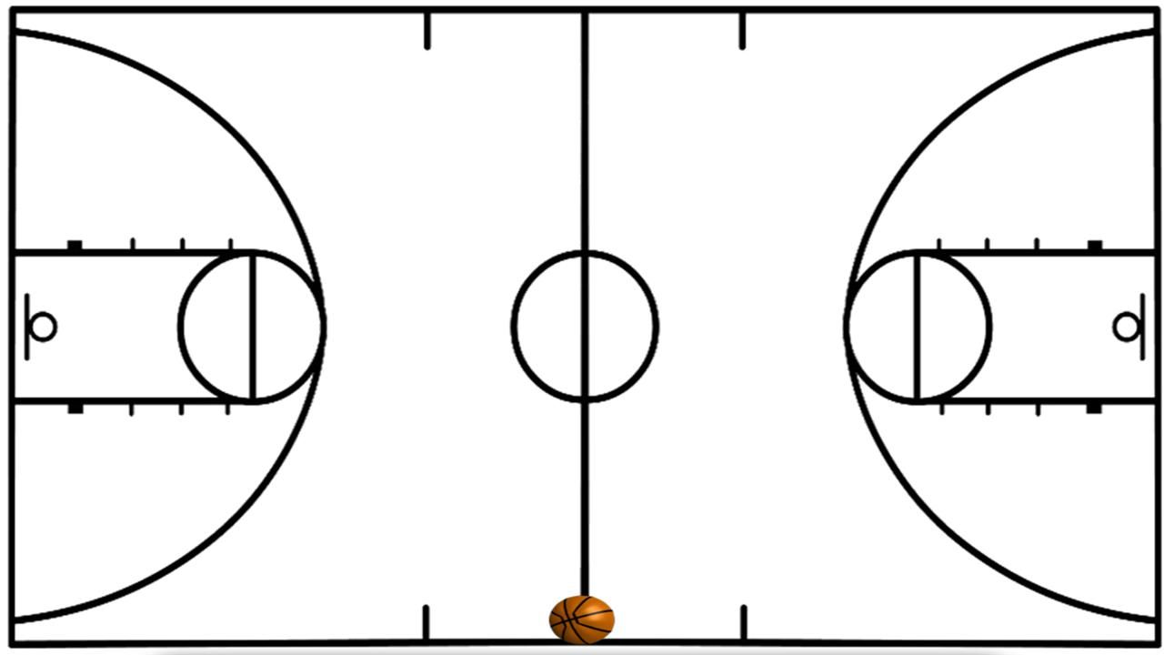 Basketball court lines clipart picture royalty free download Basketball Court Drawing And Label | Free download best Basketball ... picture royalty free download