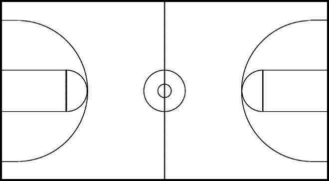 Basketball court lines clipart clip black and white library Free Black And White Basketball Court, Download Free Clip Art, Free ... clip black and white library
