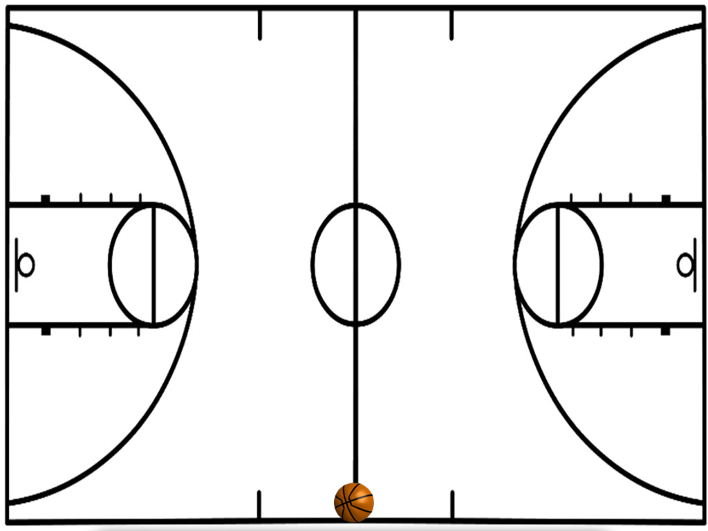 Half court shot black and white clipart picture library library Basketball Court Images | Free download best Basketball Court Images ... picture library library