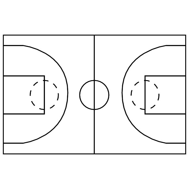 Basketball court lines clipart banner free library BASKETBALL COURT VECTOR IMAGE - Free vector image in AI and EPS format. banner free library