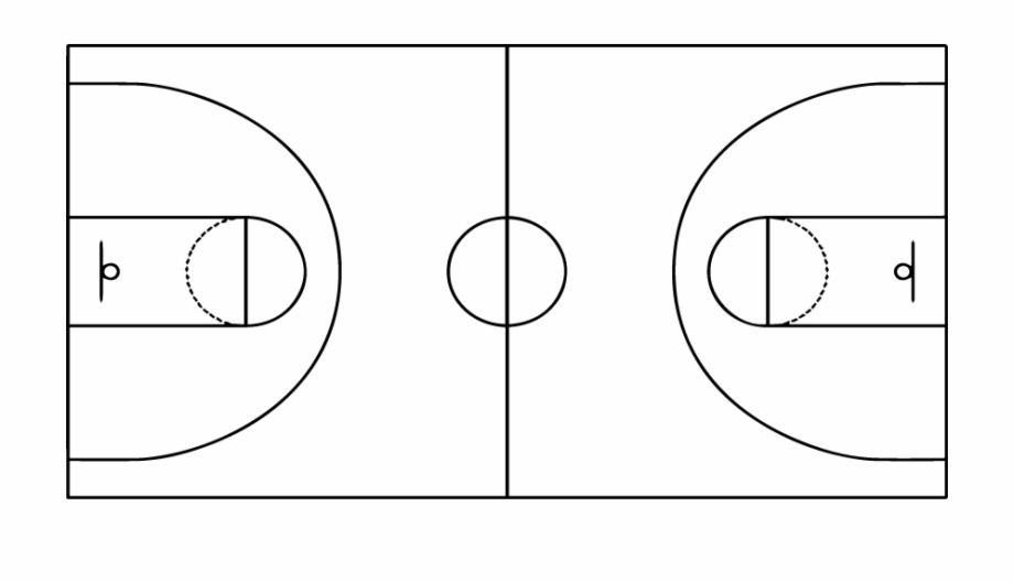 Basketball court lines clipart jpg black and white stock 269 945 Basketball Court Line Drawing - Clip Art Library jpg black and white stock
