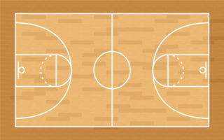 Basketball court lines clipart freeuse Basketball Court Free Vector Art - (1,192 Free Downloads) freeuse