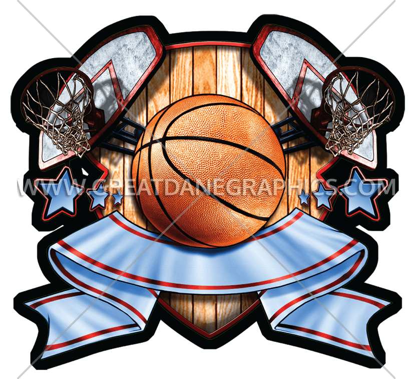 Basketball crest clipart vector Basketball Crest | Production Ready Artwork for T-Shirt Printing vector