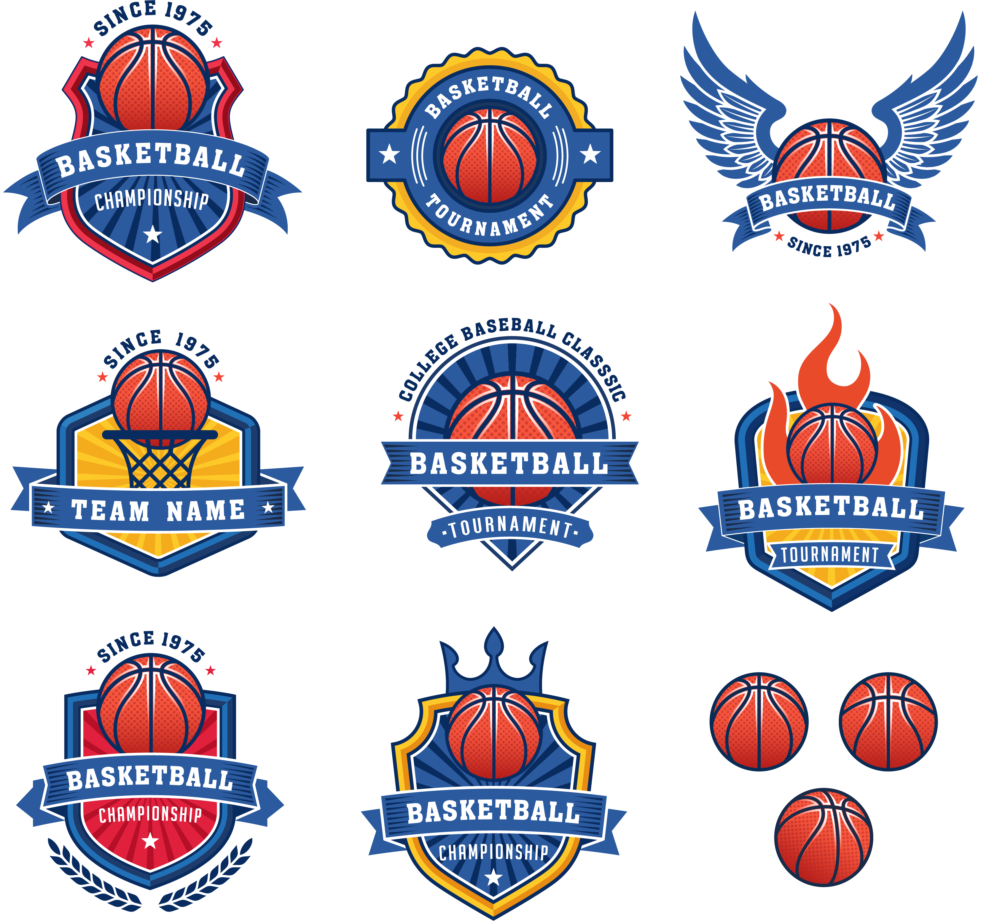 Basketball crest clipart vector transparent Basketball Logo Royalty-free Stock photography - Blue basketball ... vector transparent