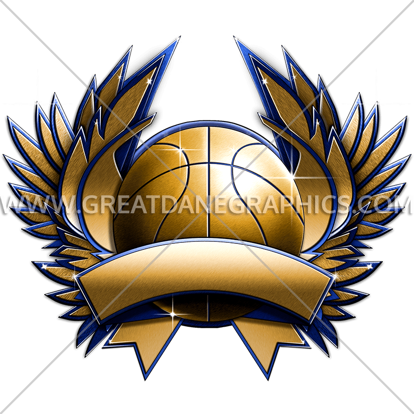 Basketball crest clipart clip art Basketball Metal Crest | Production Ready Artwork for T-Shirt Printing clip art