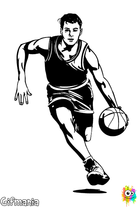 Man playing basketball clipart vector library library basketball player #basketball #basketballer #sport #drawing ... vector library library