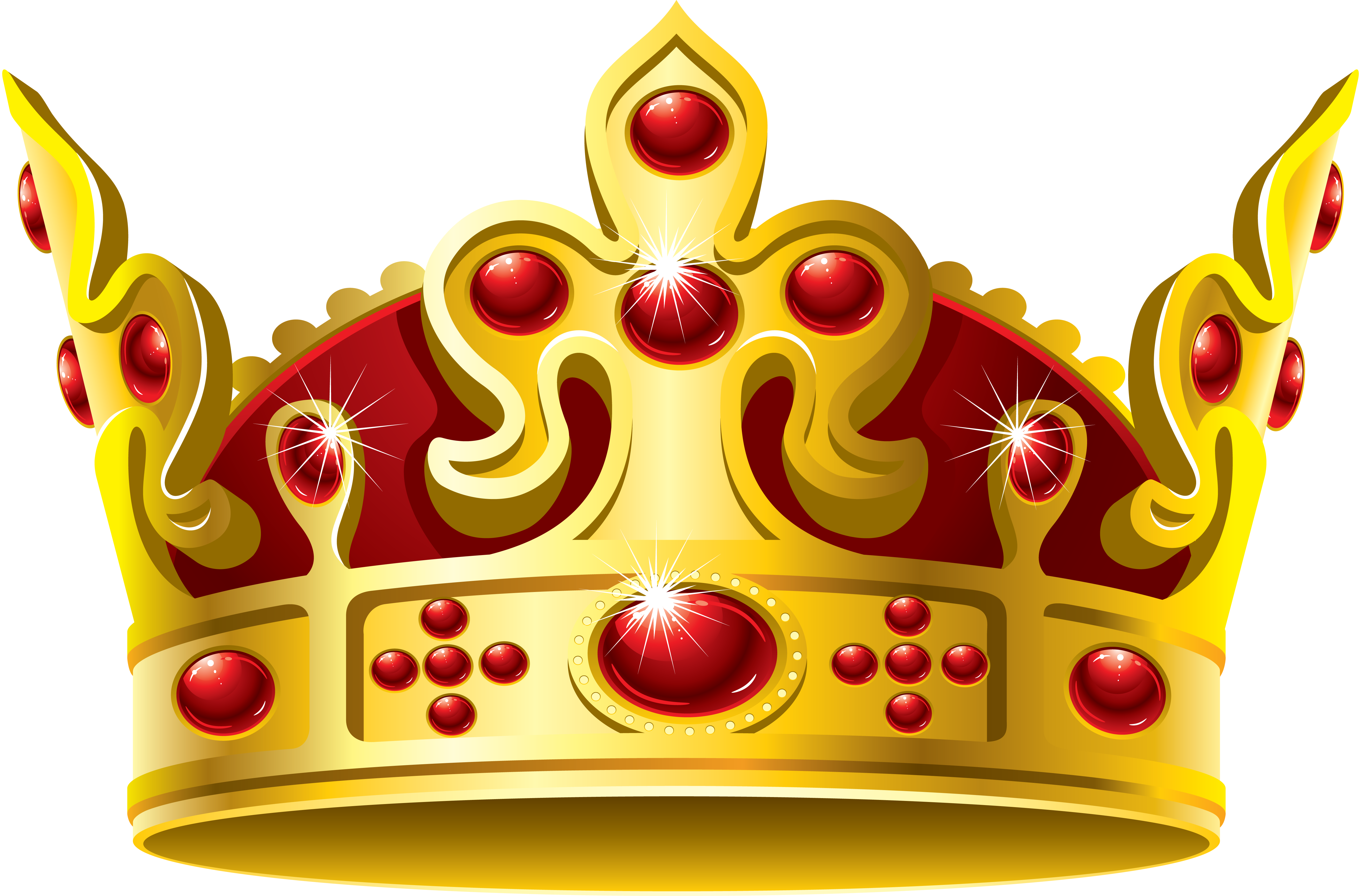 Gold princess crown clipart vector transparent library Gold Crown Red Stone PNG Image - PurePNG | Free transparent CC0 PNG ... vector transparent library